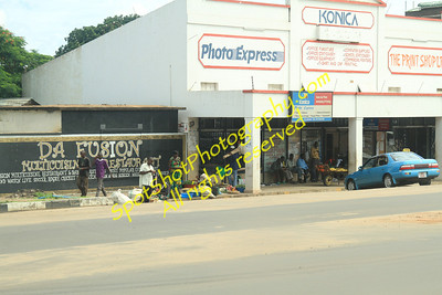Downtown Livingstone, Zambia.  We were told to stay out of downtown.